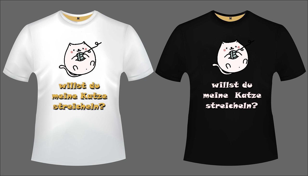 Katzen T-Shirt Set 1
