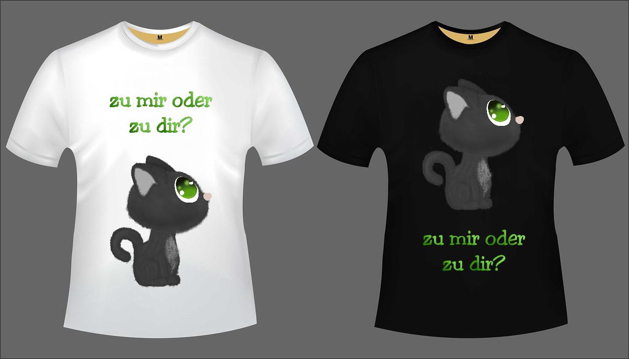 Katzen T-Shirt Set 2