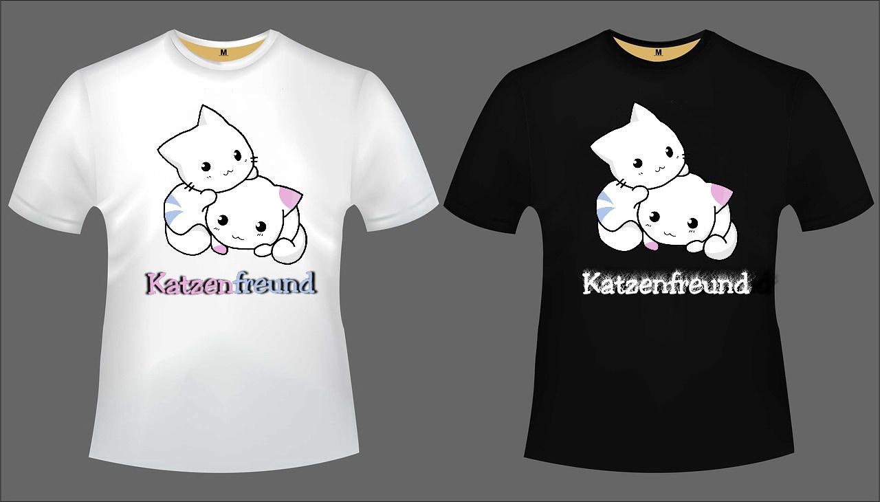 Katzen T-Shirt Set 3