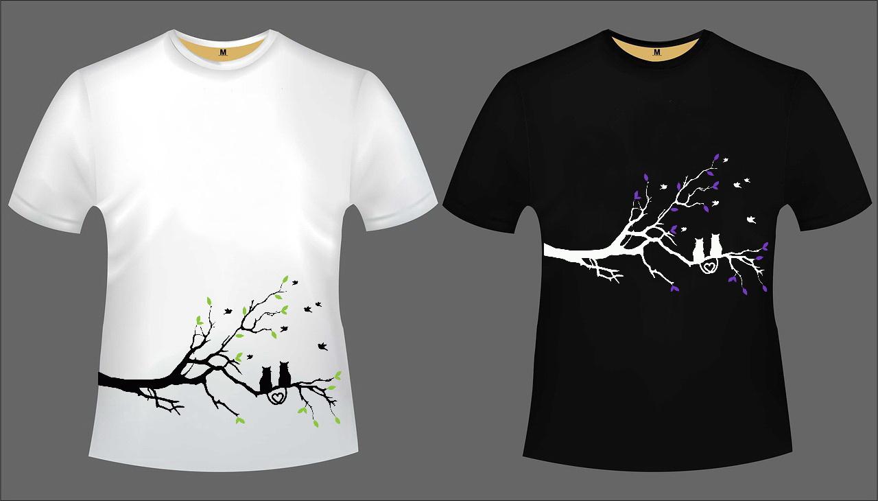 Katzen T-Shirt Set 4